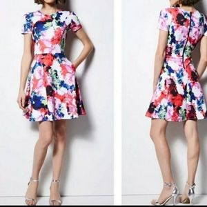 MILLY fit and flare floral like new dress!